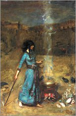 Wall sticker  The magic circle - John William Waterhouse
