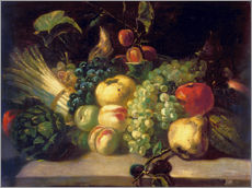 Wall sticker  Still life with fruits and vegetables - Theodore Gericault