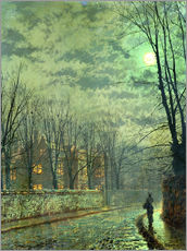 Gallery print  Going Home by Moonlight - John Atkinson Grimshaw