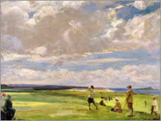 Canvas print  Lady Astor playing golf on North Berwick - Sir John Lavery