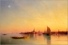 Acrylic print  Sunset in the bay of Venice - Ivan Konstantinovich Aivazovsky