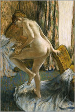 Wall sticker  After the bath - Edgar Degas