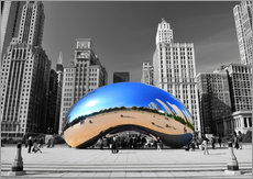 Wall sticker  Chicago Bean - HADYPHOTO