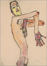 Gallery print  Nude with crossed arms - Egon Schiele