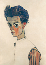 Wall sticker  Egon Schiele, Self-portrait - Egon Schiele