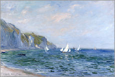 Gallery print  Rocks and sailing boats in Pourville - Claude Monet