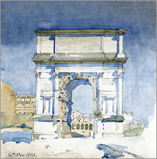Gallery Print  Arch of Titus, Rome - Charles Rennie Mackintosh