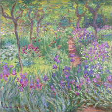 Wall sticker  The Iris Garden At Giverny - Claude Monet