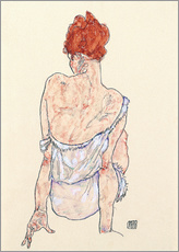 Wall sticker  Female back - Egon Schiele