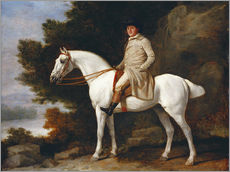Wall sticker  Gentleman on a Grey Horse - George Stubbs