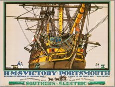 Canvas print  H.M.S. Victory, Portsmouth - Kenneth Shoesmith