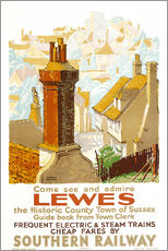 Wall sticker  Come see and admire Lewes - Gregory Brown