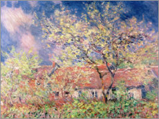 Premium poster  Spring in Giverny - Claude Monet
