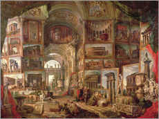 Gallery print  Furniture of an imaginary picture gallery - Giovanni Paolo Pannini