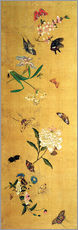 Gallery print  100 butterflies, flowers and insects, detail - Chen Hongshou