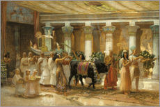Gallery print  The Procession of the Holy Bull in Apis, 1879 - Frederick Arthur Bridgman