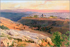 Gallery print  Jerusalem from the Mount of Olives - Edward Lear