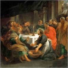 Gallery print  The Washing of the Feet - Peter Paul Rubens