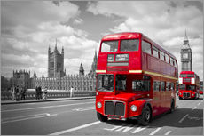 Wall Stickers  Westminster Bridge and Red Buses - Melanie Viola