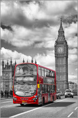 Gallery print  Big Ben and Red Bus - Melanie Viola