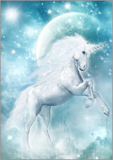 Gallery Print  Unicorn on my way - Dolphins DreamDesign