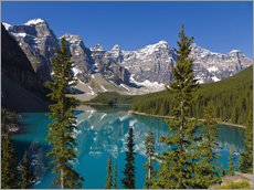Wall sticker  Lake in front of the Canadian Rockies - Paul Thompson
