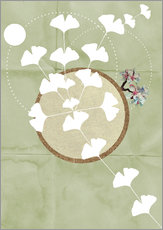 Gallery print  GINGKO TREE BY 5 CLOCK EARLY - Sabrina Tibourtine