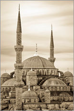 Gallery print  the blue mosque in sepia (Istanbul - Turkey) - gn fotografie