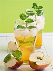 Wall sticker  Apple juice with fresh mint - Edith Albuschat