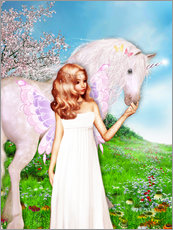 Gallery print  Angel and Unicorn - Dolphins DreamDesign