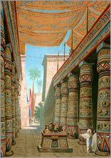 Gallery print  Interior of the palace of an egyptian ruler - Dionisio Baixeras-Verdaguer