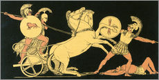 Gallery print  Diomedes throws his spear at Ares - John Flaxman