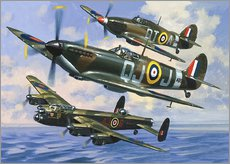 Wall sticker  Spitfires - Wilf Hardy