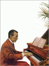 Gallery print  Rachmaninoff playing the piano - Andrew Howat