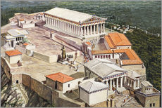 Gallery print  The Acropolis and Parthenon - Roger Payne