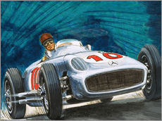 Wall sticker  Juan Manuel Fangio drives Mercedes-Benz - English School