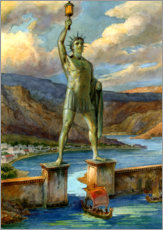 Aluminium print  The Colossus of Rhodes - English School