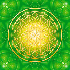 Gallery print  Flower of life - healing - Dolphins DreamDesign