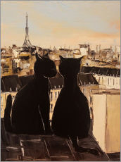 Wall Stickers  Cats on the roofs of Paris - JIEL