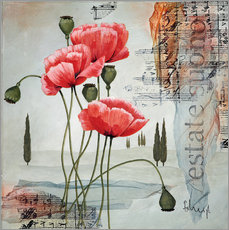 Wall sticker  Poppies - Franz Heigl