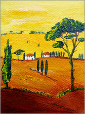 Gallery print  Tuscany landscape 1 - Christine Huwer