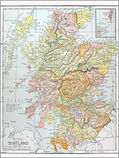 Gallery print  Map of Scotland