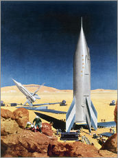 Wall sticker  Mars Mission, 1950s. - Chesley Bonestell