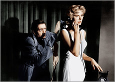 Wall sticker  Dial M for Murder, from left: Anthony Dawson, Grace Kelly in 1954