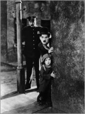 Wall sticker  Tom Wilson, Charles Chaplin and Jackie Coogan in The Kid