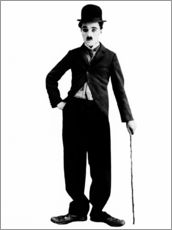 Wall sticker  Charlie Chaplin with walking stick