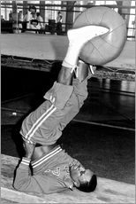 Wall sticker  Joe Frazier during training with a medicine ball
