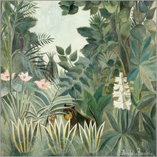 Wall Stickers  Equatorial jungle - Henri Rousseau