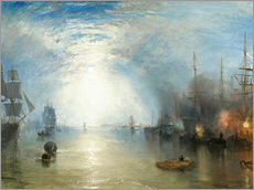 Wall sticker  Keelmen Heaving in Coals by Moonlight - Joseph Mallord William Turner