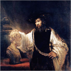 Gallery print  Aristotle with a bust of Homer - Rembrandt van Rijn